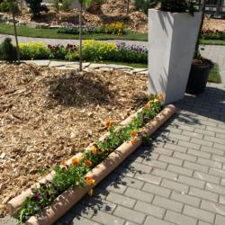 Betonový ohradník barva béžová