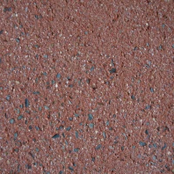 povrch tryskaný červená