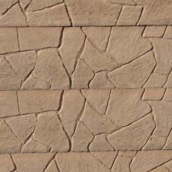 Oboustranná deska - Vzor Skládaný kámen - Béžová