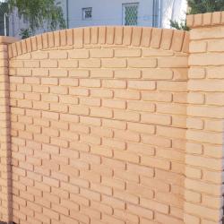 Skládaný plot Dekor reliéf cihla