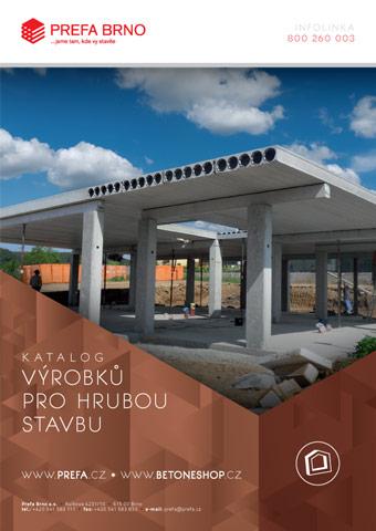 Prefa Brno - obálka katalogu Výrobky pro hrubou stavbu