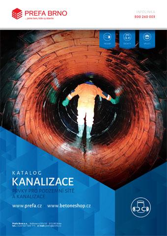 Prefa Brno - obálka katalogu Kanalizace