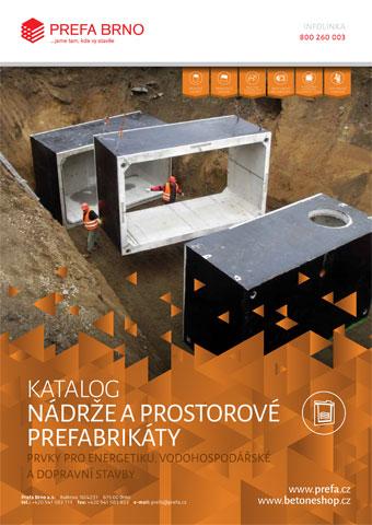 Prefa Brno - obálka katalogu Nádrže a protorové prefabrikáty