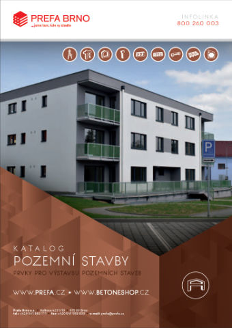 Prefa Brno - obálka katalogu Pozemní stavby