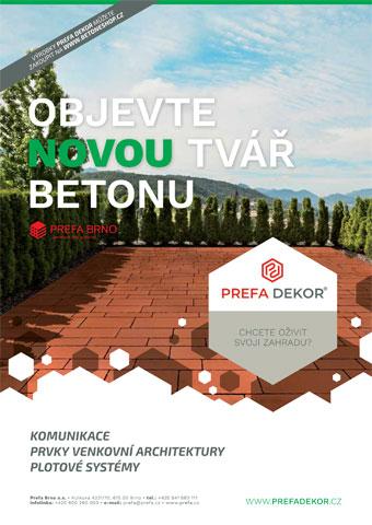 Prefa Brno - obálka katalogu Prefa Dekor