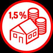 odměna zatip navhodný developerský projekt vevýši 1,5% zceny pořízení