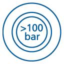 ikona - Stabilita při čištění vysokým tlakem
